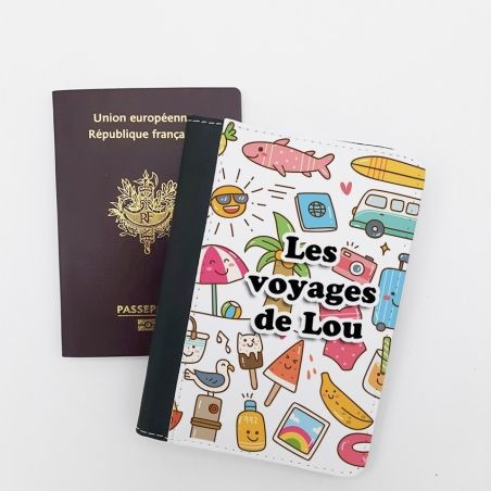 Protège passeport personnalisable Kawai|La chouette mauve|Livraison rapide|Fabrication en France