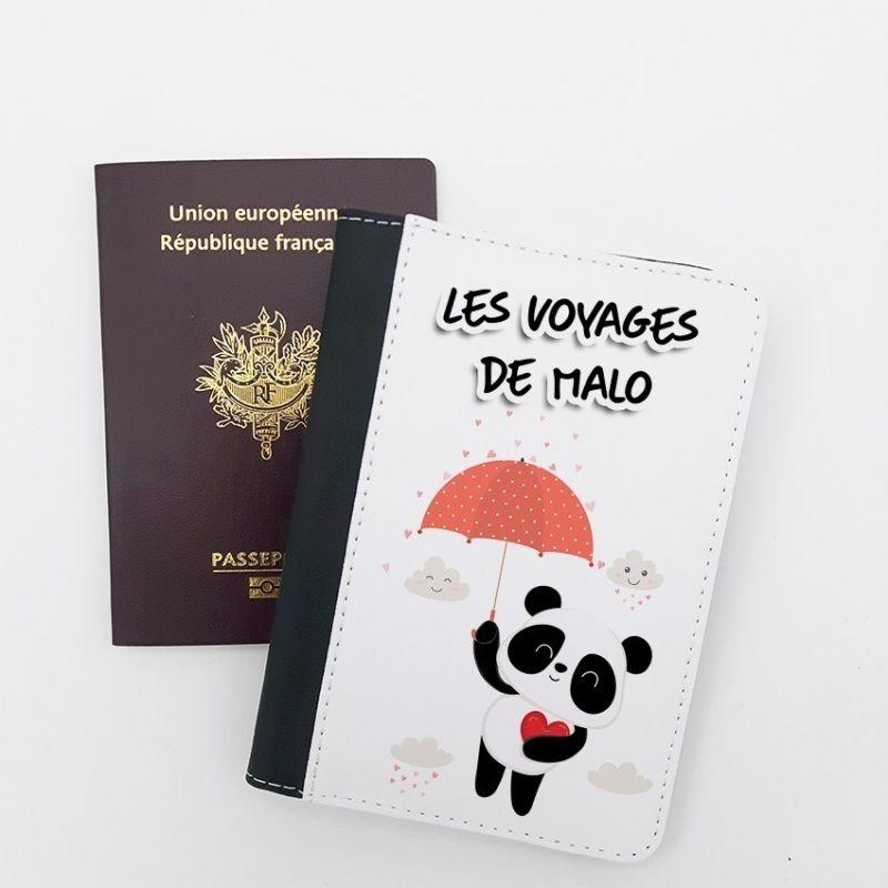 Protège passeport personnalisable Panda La chouette mauve Livraison rapide Fabrication en France