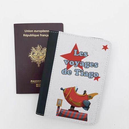 Protège passeport personnalisable Vintage|La chouette mauve|Livraison rapide|Fabrication en France