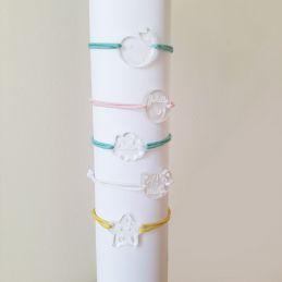 Bracelet gravé enfant personnalisable Etoile La chouette mauve Livraison rapide Fabrication en France