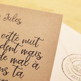 Lettre officielle de la petite souris -dents  - Chambre non rangée|La chouette mauve|Livraison rapide|Fabrication en France