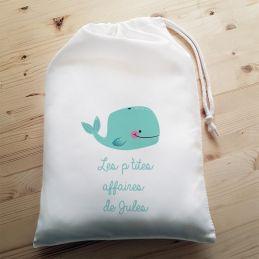 Pochon personnalisable Baleine