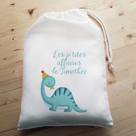 Pochon personnalisable Dinosaure|La chouette mauve|Livraison rapide|Fabrication en France