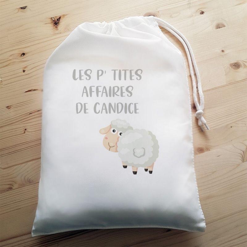 Pochon personnalisable Mouton La chouette mauve Livraison rapide Fabrication en France
