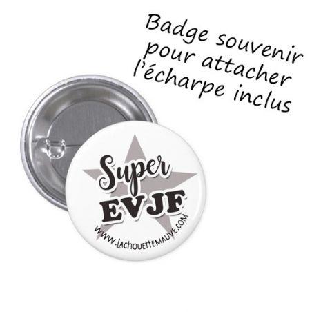 """Echarpe personnalisée EVJF Modèle """"Future Madame Etoile"""" La chouette mauve Livraison rapide Fabrication en France"""