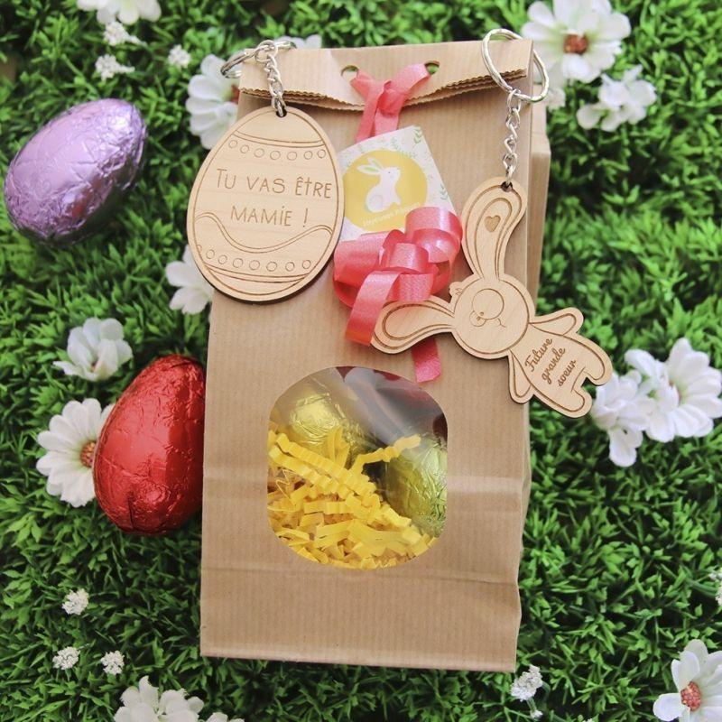 Sachet Surprise de Pâques avec porte clés|La chouette mauve|Livraison rapide|Fabrication en France
