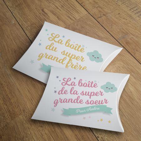 Boîte à grande soeur vide personnalisable La chouette mauve Livraison rapide Fabrication en France