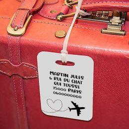 Etiquette à bagages Avion