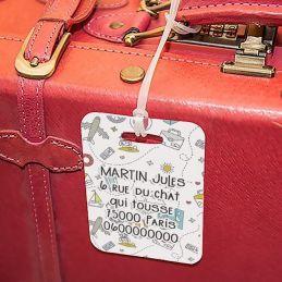 Etiquette à bagages Doodles