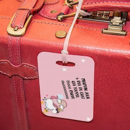 Etiquette à bagages Licorne