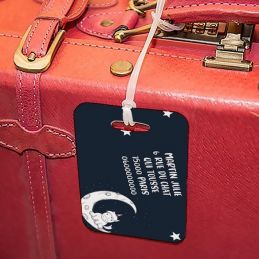 Etiquette à bagages Lune