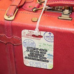 Etiquette à bagages Visa