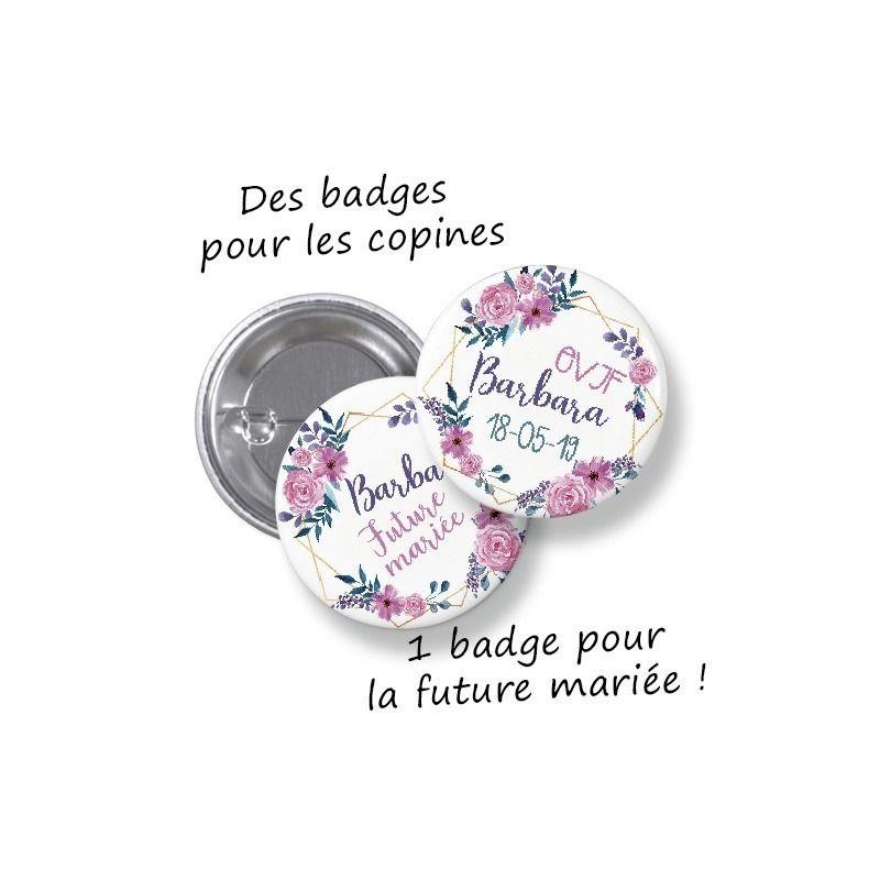 c268b31b69d Badges ronds à porter le jour de l événement et à garder ensuite pour un  souvenir de la journée !