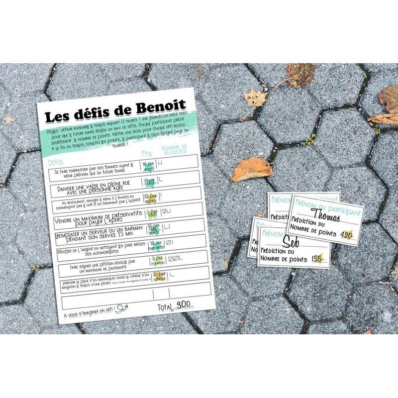 Jeu des défis pour EVG (version papier) La chouette mauve Livraison rapide Fabrication en France
