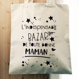 Tote bag Le bazar de Maman La chouette mauve Livraison rapide Fabrication en France