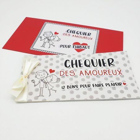 Chéquier Des Amoureux Personnalisable Cadeau Original Pour Son Amoureuxse