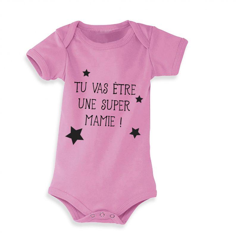 Body bébé personnalisé Annonce de grossesse|La chouette mauve|Livraison rapide|Fabrication en France