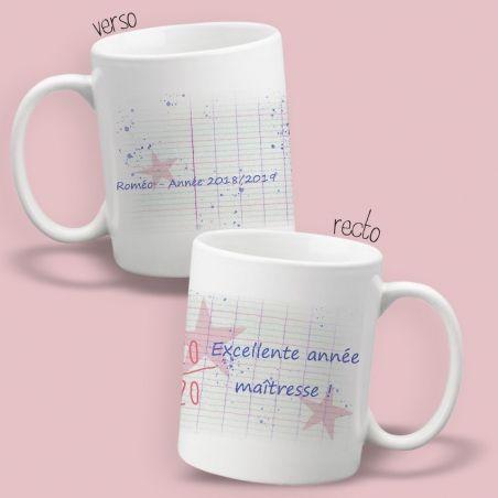 Mug personnalisable recto-verso 20/20|La chouette mauve|Livraison rapide|Fabrication en France