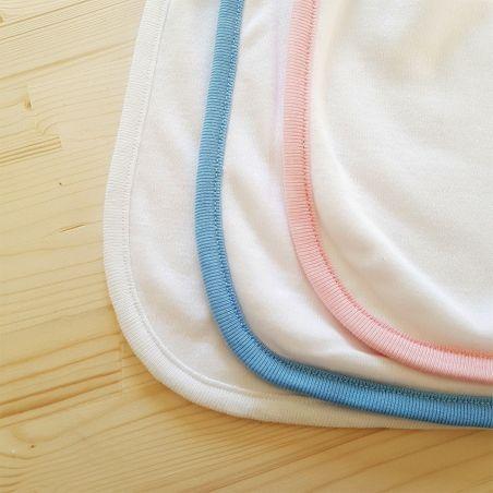 Bavoir personnalisable  Chouette bleue|La chouette mauve|Livraison rapide|Fabrication en France