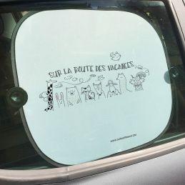 Pare-soleil personnalisables (2 pièces) avec votre texte La chouette mauve Livraison rapide Fabrication en France