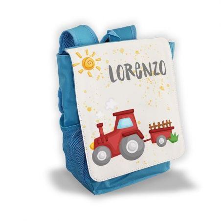Sac à dos personnalisé pour enfant modèle Tracteur|La chouette mauve|Livraison rapide|Fabrication en France