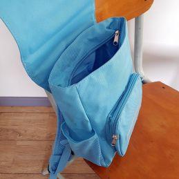 Sac à dos personnalisé pour enfant modèle Lama bleu La chouette mauve Livraison rapide Fabrication en France
