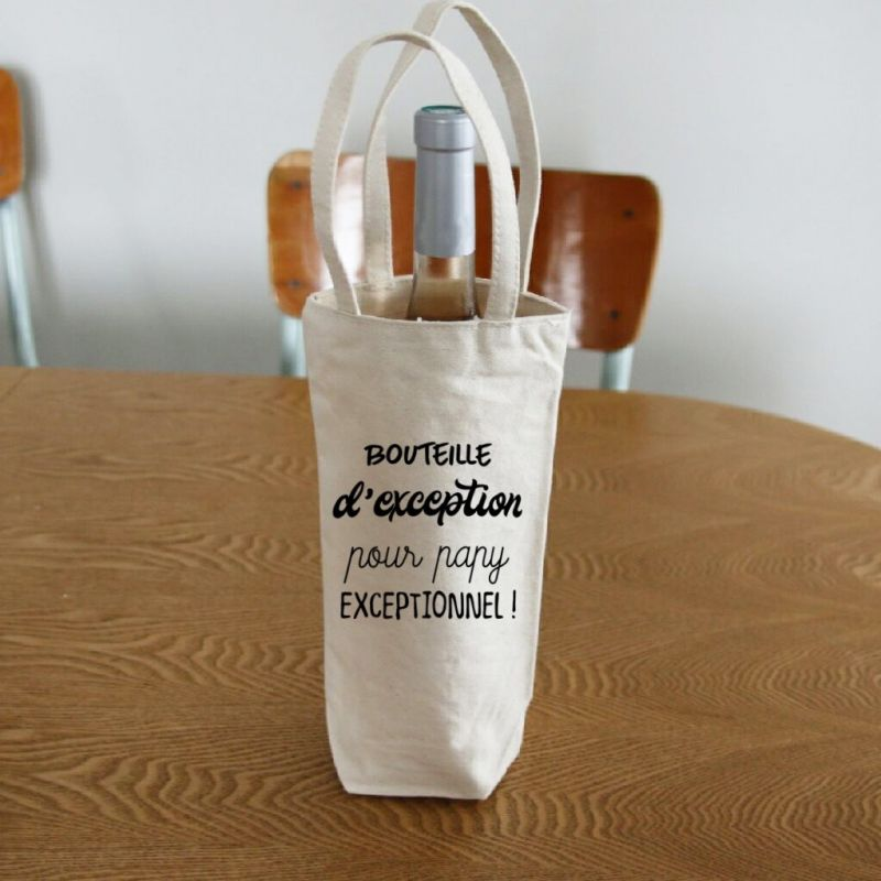 Sac de bouteille pour papy exceptionnel La chouette mauve Livraison rapide Fabrication en France