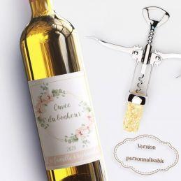 Etiquette bouteille de vin...