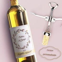 Etiquette bouteille vin ou...