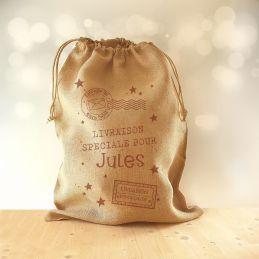 Hotte de Noël Vintage, Jute...