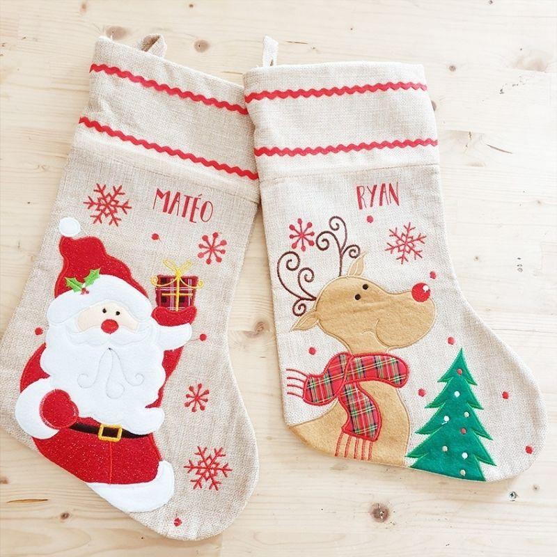 Chaussette De Noel Personnalisée Grande chaussette / botte de Noël personnalisable