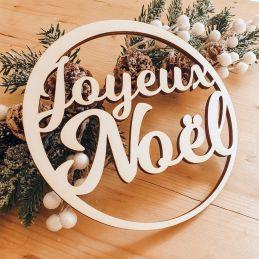 Décoration en bois Joyeux Noël