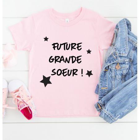 Tee shirt enfant personnalisable La chouette mauve Livraison rapide Fabrication en France