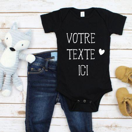 Body bébé personnalisé avec VOTRE texte La chouette mauve Livraison rapide Fabrication en France