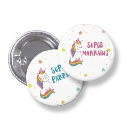 Badges ronds Super parrain...