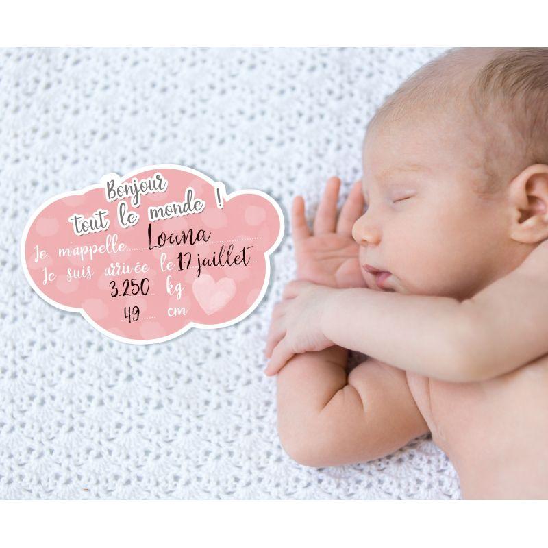 Carte bonjour tout le monde pour prendre b b en photo la naissance - Carte etape bebe a imprimer ...