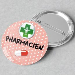 Badge Pharmacien rose