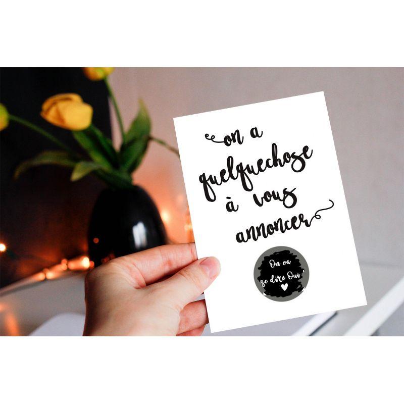 Carte à gratter Annonce de mariage|La chouette mauve|Livraison rapide|Fabrication en France