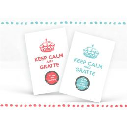 Carte à gratter personnalisable Keep calm and...