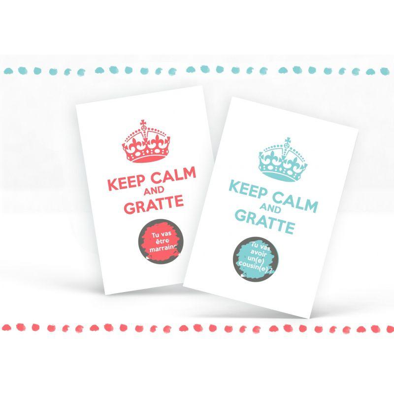 Carte à gratter personnalisable Keep calm and...|La chouette mauve|Livraison rapide|Fabrication en France
