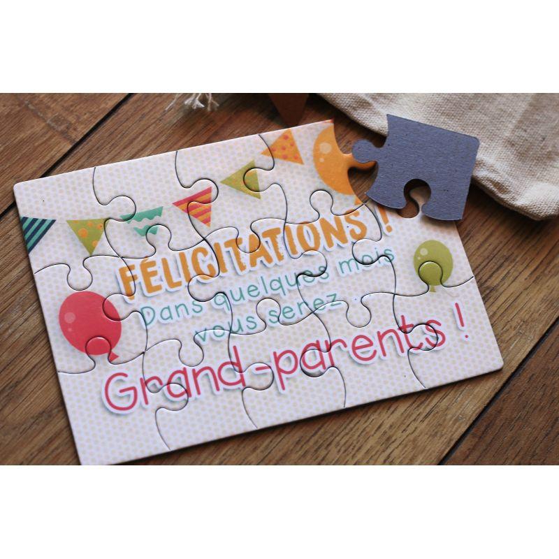 Berühmt Puzzle futur grands parents, La chouette mauve OH57