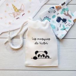Pochette à masques Panda