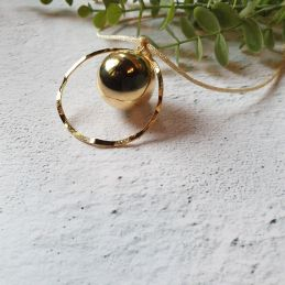 Bola de grossesse doré Cercle