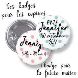 Badges EVJF à pois