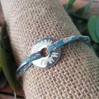 Bracelet estampé à la main
