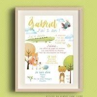 Affiche de naissance personnalisable