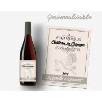 Etiquette pour bouteille de vin ou champagne
